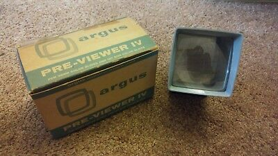 Vintage Argus Previewer IV Color Slide Viewing 35 mm 127 Photography Camera
