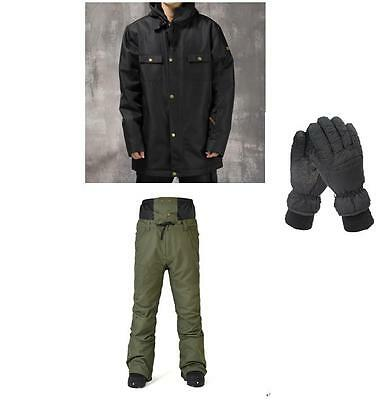 10K Men Ski Snow Snowboard Winter Waterproof Jacket+Pants+Gloves S M L XL XXL
