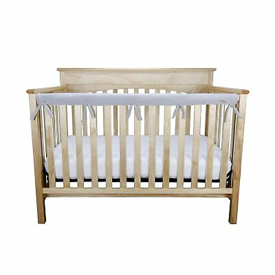 Trend Lab Fleece CribWrap Narrow Long Rail Cover for Crib Front or Back Gray