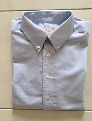 EUC Lands End Boys Sz 8 (age 8-9) Blue Oxford School Uniform Dress Shirt