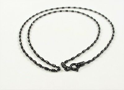 18 inch .925 Oxidized Sterling Silver Chain Necklace,Genuine Solid Silver (#629)