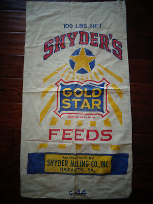 Vintage Snyder's Canvas Feed Bag