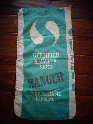 2- Sided  Canvas SEED grain FEED BAG SACK ORIGINAL