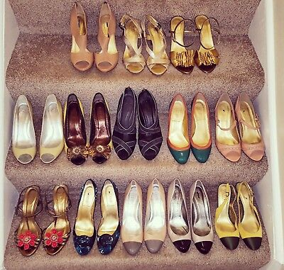 Lot of 13 pairs J.Crew high heel shoes! Size 6.5 & 7. PLUS FREE GIFT!