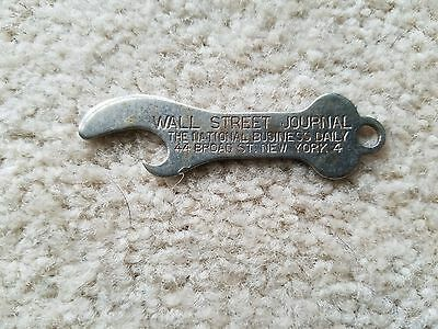 Metal Bottle Opener Wall Street Journal National Business Daily NY Vintage