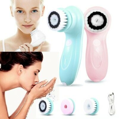 Face Cleaner Set Waterproof Electric Facial Brush Skin Care Cleansing Massager