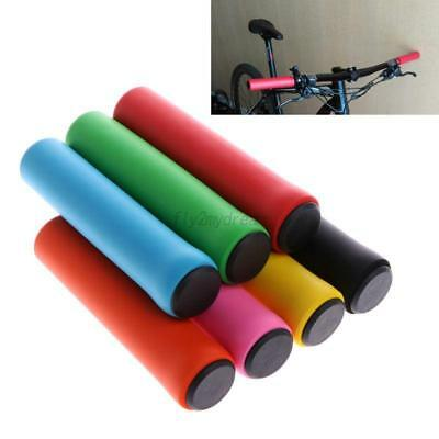 1 Pair Anti-slip Soft Silicone Handlebar Grips For Mountain Bike Bicycle Cycling
