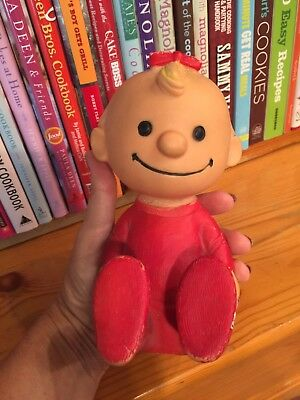 RARE 1958 Peanuts Hungerford Sally, United Feature Syndicate Rubber Squeak Doll
