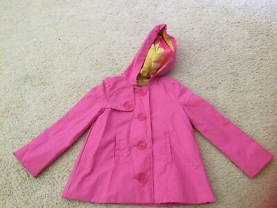 Gap raincoat/jacket pink fully lined worn once size 4/5