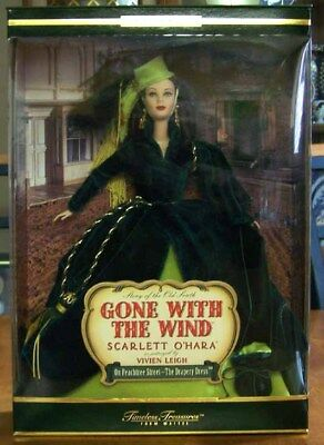 Gone With the Wind Scarlett O'hara in Drapery Dress Barbie - NEW