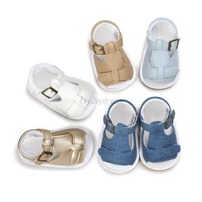 Infant Baby Girl Boy Summer Sandals Toddler Soft Sole Crib Shoes Prewalker 0-18M