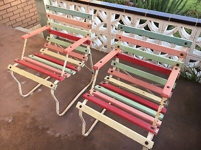 Garden Bench And Chairs Park 1950's Retro Vintage Rustic