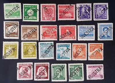VERY RARE 1937 set of 23 American Writers & Artists Asscn stamps SPECIMEN