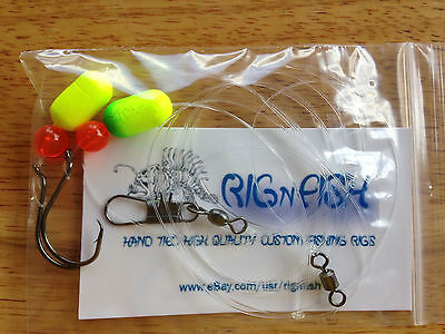 10 - Fluorocarbon Surf Fishing Rigs, Pier Rigs, Boat Rigs (Free Shipping)