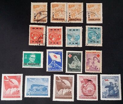 RARE 1949-1951 Republic of Yugoslavia lot of 17 Postage stamps Mint & Used