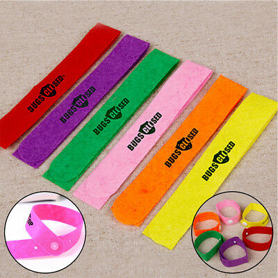 10Pcs Anti Mosquito Pest Insect Bugs Repellent Repeller Wristband Bands Bracelet