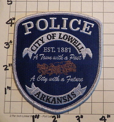 Lowell (AR) Police Department Patch  -  Est. 1881           ***NEW***