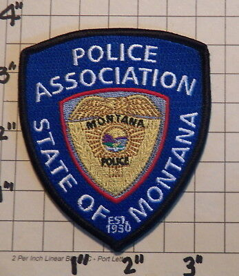 State of MONTANA Police Association Patch  -  Est. 1930                ***NEW***