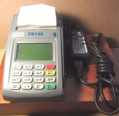 First Data Credit Card Terminal Model: FD-100  Adapter included