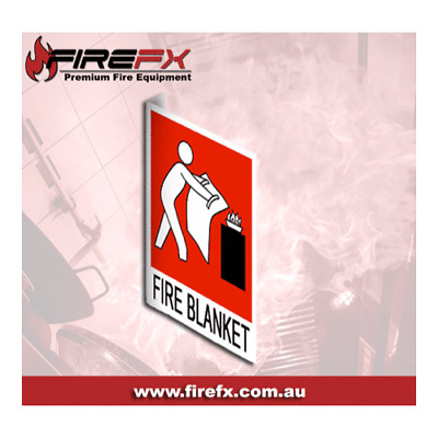 Right Angle Fire Blanket Location Sign