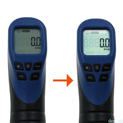 Digital Laser Photo Tachometer Gun Non-Contact Tach Tester Meter Speed Gauge Wh5