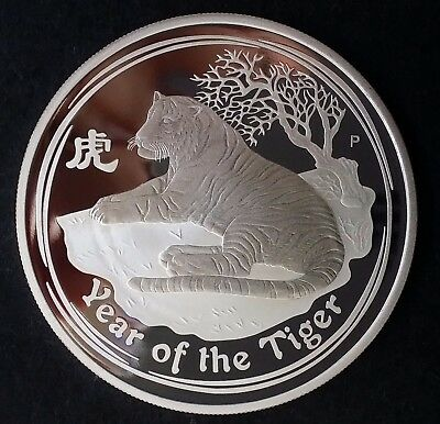 2010 Australia Year of the Tiger 1oz ( 99.9% ) Silver $1 Proof Coin