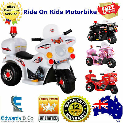 Kids Ride On Battery Motorcycle 3 Wheel Indoor/Outdoor Motor Trike Toddler/bike