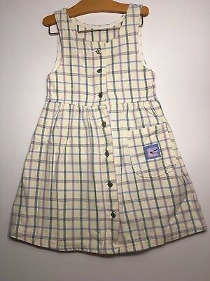 Vintage girls children's Lee denim button down sleeveless dress size 10