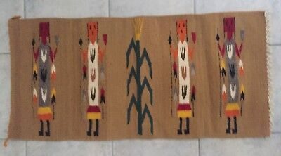 """Estate Navajo YEI 19""""x40"""" Rug/Tapestry -excellent condition"""