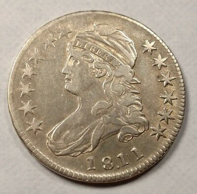 1811/10 Capped Bust Half Dollar XF Details