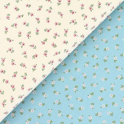 Cotton Fabric FQ Ditsy Flower Daisy Small Tiny Floral Baby Quilt Patchwork VS33
