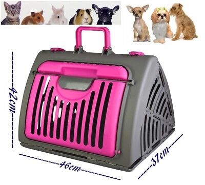 Pet Crate Portable Travel Carrier Animal Cage Cat Dog Bag Foldable House Kennel