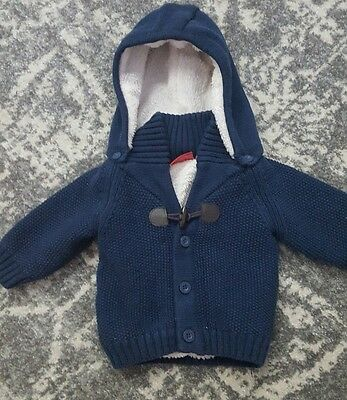 Size 00 Baby Boy Sprout Winter Jacket with removable hood