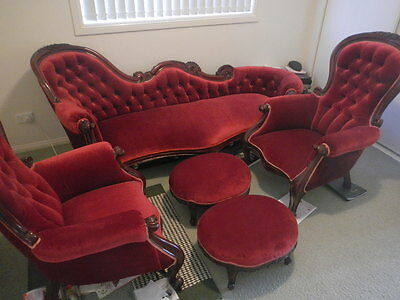 Antique Lounge Setting - Genuine Hand Made