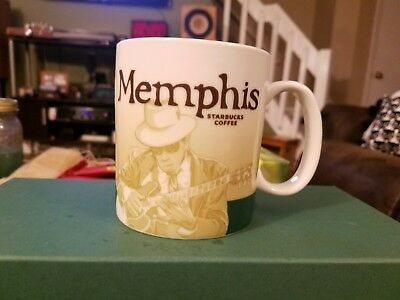 NEW! 2012 Starbucks Memphis Global Icon Series Mug 16oz.,with SKU, DISCONTINUED!