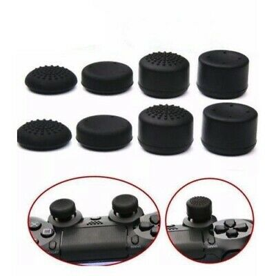 8pcs Black Silicone Thumbstick Grip Cover Caps For PS4 & Xbox One Controller USA