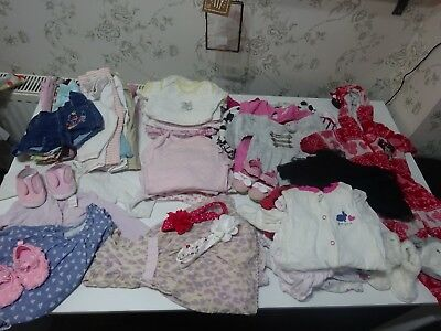 Huge Bundle Baby Girl Clothes 3-6 Months 68 Items