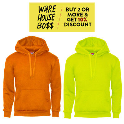 Safety Color Hoodie Hooded Sweatshirts Fleece Pullover High Visibility Road Work