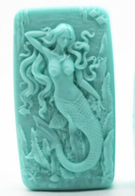 Soap Molds Silicone Craft Mermaid Flexible Soap Making Mould DIY Wax Resin Mold