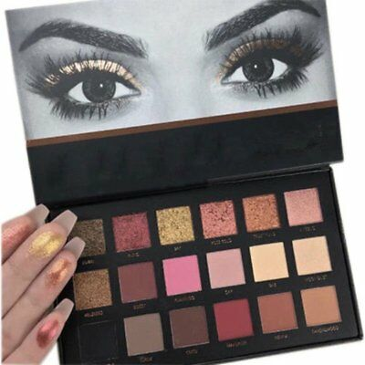 Pro Rose Gold Textured Eyeshadow Makeup 18Colors Matte Eyeshadow Palette Fashio