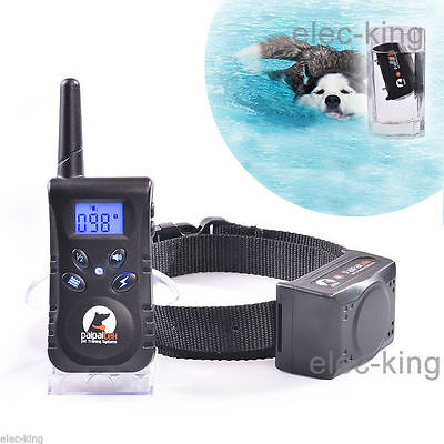 Electric Remote Dog Training Shock Collar 500 Yard Waterproof Rechargeable LCD