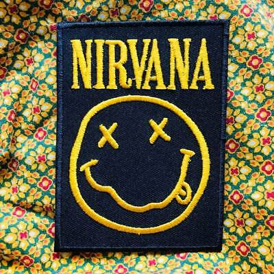NIRVANA Iron on Patch Rock Music Band Patch Embroidered Sew on Jacket 002
