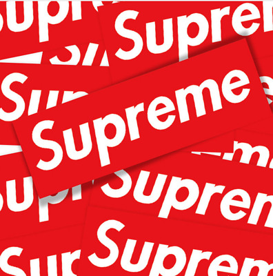 5/10/20 Pack Supreme Vinyl Sticker iphone Luggage Car Laptop Wall Red Box Logo