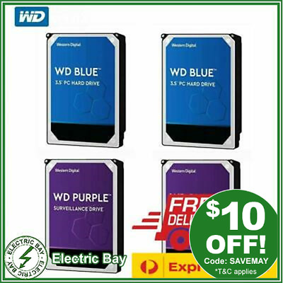 WD BLUE RED 1TB 2TB 3TB 4TB 6TB 8TB 10TB Internal NAS Hard Drive Western Digital
