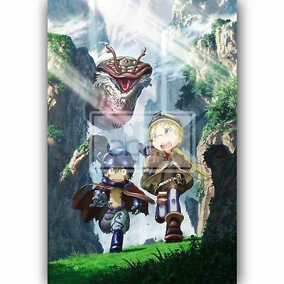 Anime Made In Abyss Silk poster wallpaper 24 X 13 inches