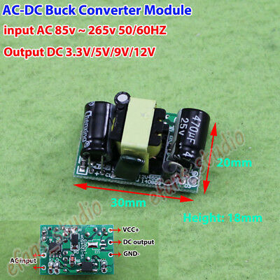 AC 220V 230V to DC 3.3V 5V 9V 12V Step Down Converter Board Power Supply Module
