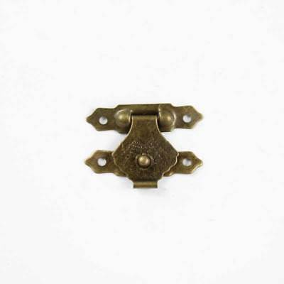 1 Set Gold Shell Antique Wooden Gift Box Latches Buckle Hardware