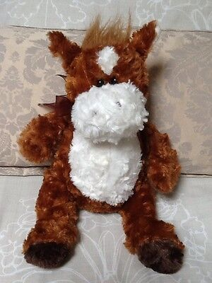 Chad Valley Brown & White Horse / Pony Soft Toy Comforter