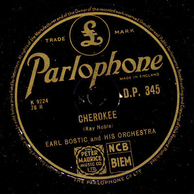 EARL BOSTIC & HIS ORCHESTRA Cherokee / The song is ended -Schellackplatte- X490