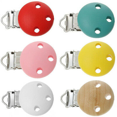 1pc 6 Farben Pacifier chain clip pacifier clip wood clip color freely selectable